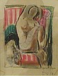EARL HORTER (American 1881-1940) FEMALE NUDE IN AN ARMCHAIR, Earl Horter, Click for value