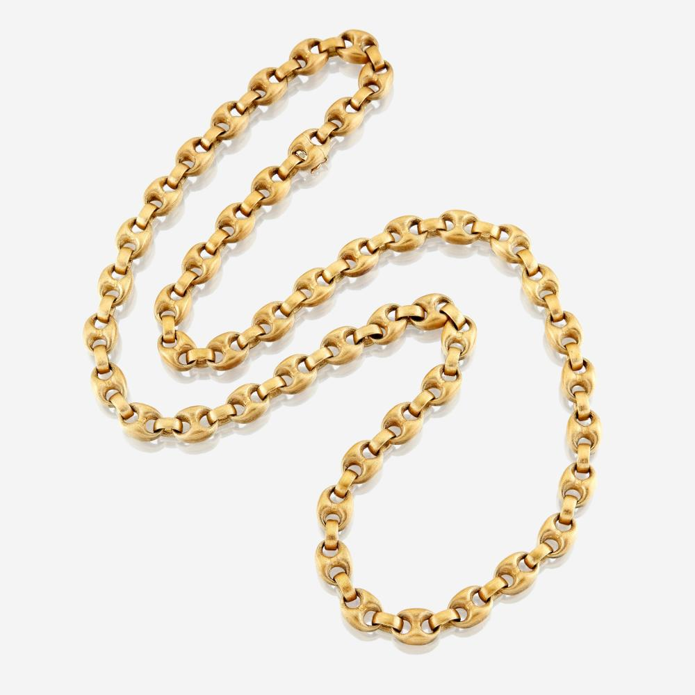 An eighteen karat gold chain, Nicolis Cola Italy