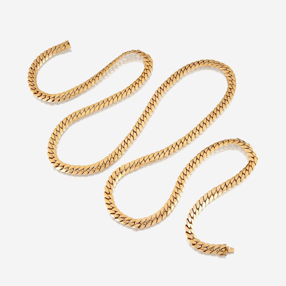 An eighteen karat gold necklace, Tiffany & Co.