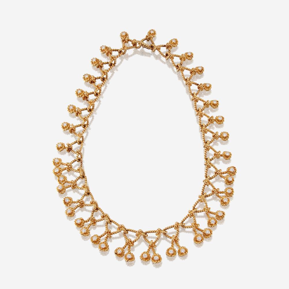An eighteen karat gold and diamond necklace, Verdura Regatta