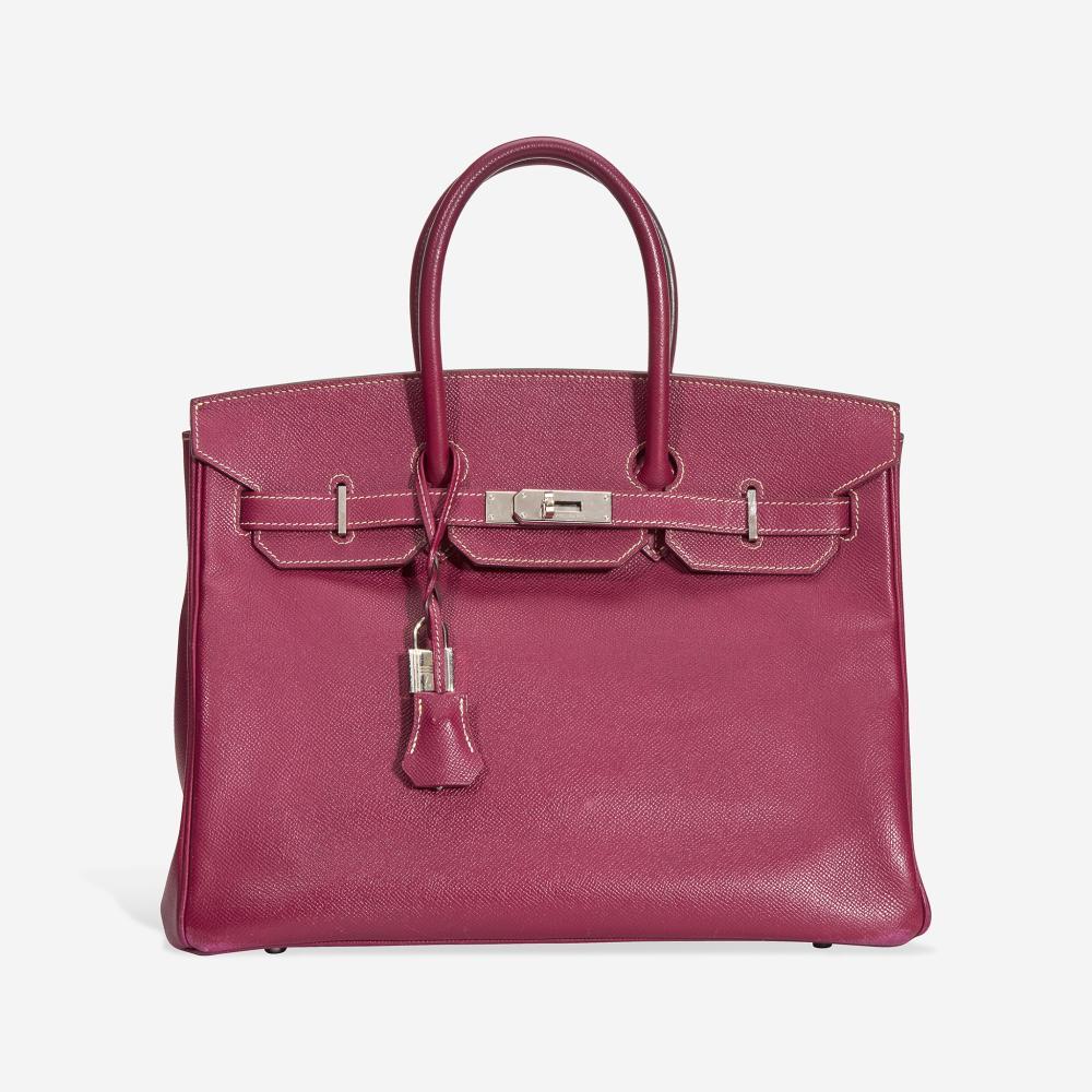 A tosca and rose tyrien epsom leather palladium hardware Birkin bag 35, Hermès 2011