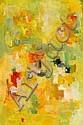 OLGA ALBIZU, (PUERTO RICAN 1924-2005), COMPOSITION IN YELLOW AND GREEN, Olga Albizu, Click for value