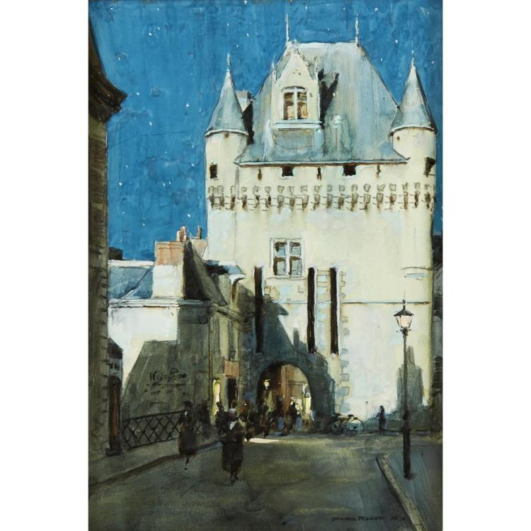 DONALD TEAGUE, (AMERICAN 1897-1991), OLD CITY GATE, LOCHES