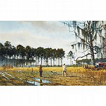 OGDEN MINTON PLEISSNER, (AMERICAN 1905-1983), HUNTING IN GEORGIA
