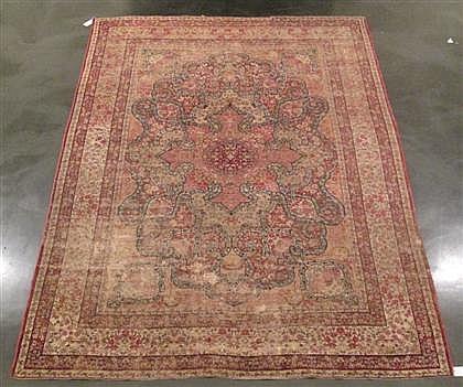 Laver Kerman carpet, southwest persia, circa late 19th century,