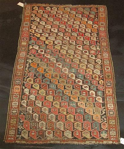 Kurdish carpet, northwest persia, circa 1900,