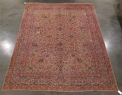Kerman carpet, southeast persia, circa 1920,