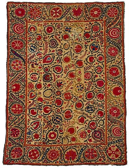 Uzbek suzani, circa third quarter 19th century,