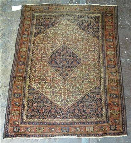 Senneh rug, west persia, circa late 19th century,