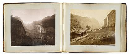 GIORGIO SOMMER, (ITALIAN 1834-1914), PHOTOGRAPH ALBUM OF SWITZERLAND AND HOLLAND