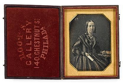 TWO QUARTER PLATE DAGUERREOTYPES MARCUS A. ROOT, (AMERICAN 1808-1888), EACH OF A FEMALE SITTER
