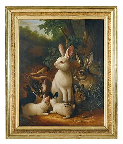 Susan C. Waters (1823-1900) group of rabbits