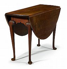 Queen Anne-style mahogany drop leaf table, alexander maranca (1891-1978), philadelphia, pa,