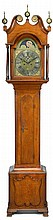 Walnut tall case clock, augustine neisser (1717-1780), germantown, pa, third quarter 18th century,