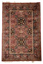 North Persian silk rug, circa 2nd half 20th century,