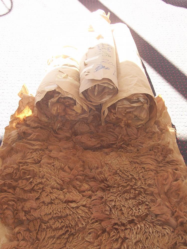 4 fleeces light brown & dard fawn grade 1&2