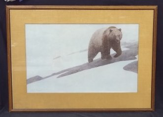Grizzly John Schoenherr Lithograph signed and framed Greenwich Workshop