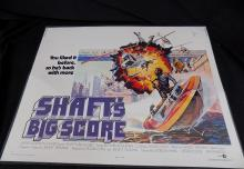 SHAFT'S BIG SCORE 1972 Richard Roundtree Movie poster 28 x 22