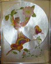 Oriental foil art by Michelle Emblem