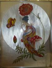 Oriental Foil Art by Michelle Emblem Fairy & Butterfly