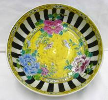 Early 20th c Nippon Hand Enameled Bowl