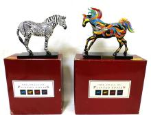 Pair of Westland Painted Ponies w Boxes 1E