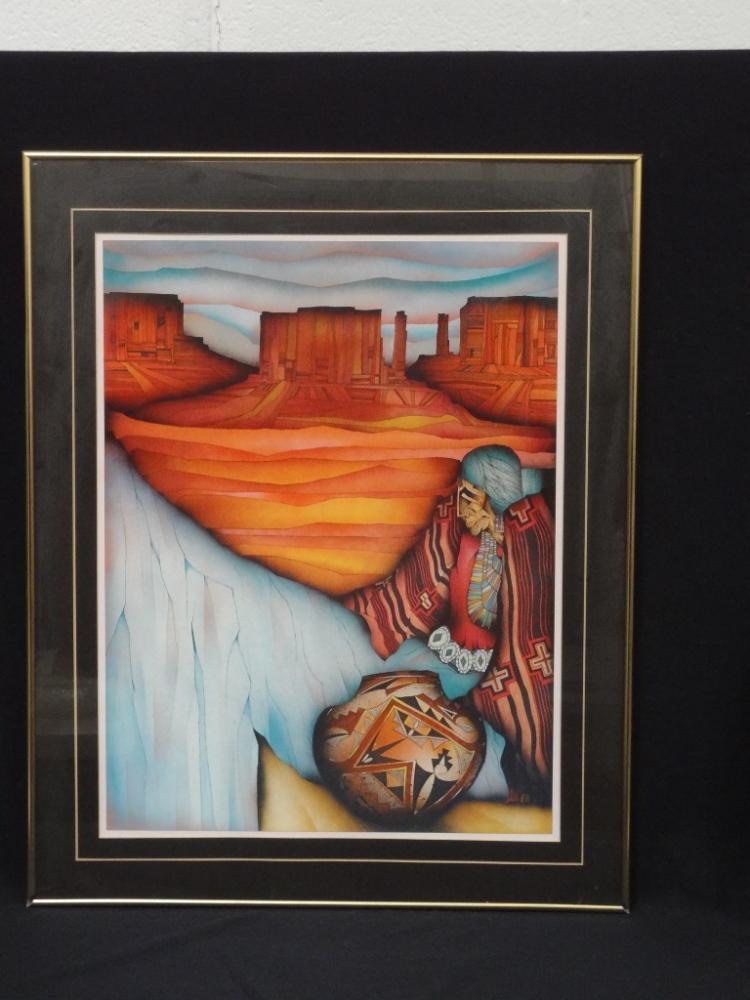 Amado Pena Exhibition Poster Signed Adagio Gallery 1987