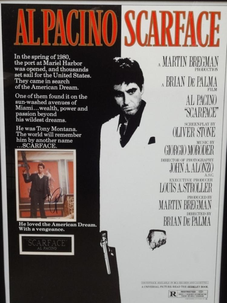 scarface large movie poster framed