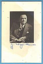 J.Edgar Hoover Signed Photo & Letter