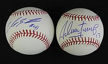 Carlos Santana & Asdrubal Cabrera Autographed Baseballs