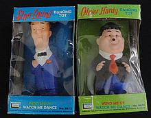 1960's Lakeside Toys Laurel & Hardy Wind Up Dancing Toys MIB