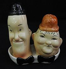 Vintage Beswick Laurel & Hardy Salt & Pepper Shakers