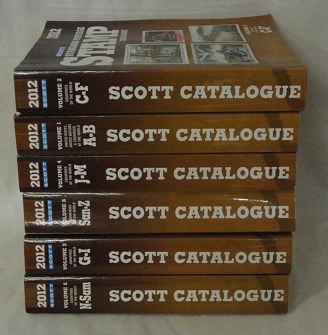 2012 Scott Stamp Catalogs Volumes 1-6