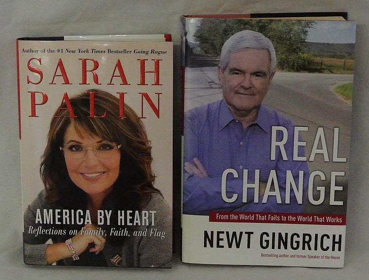 Sarah Palin and Newt Gingrich Autographed Books