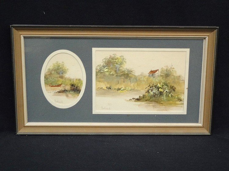 Mary Bertrand Original Watercolor landscape scene