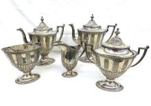 Reed & Barton #1941 Art Deco Trophy 5 Piece Tea Set