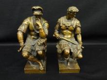Ron Liod Sauvage Bronzes Lorenzo de Medici and Giuliano de Medici