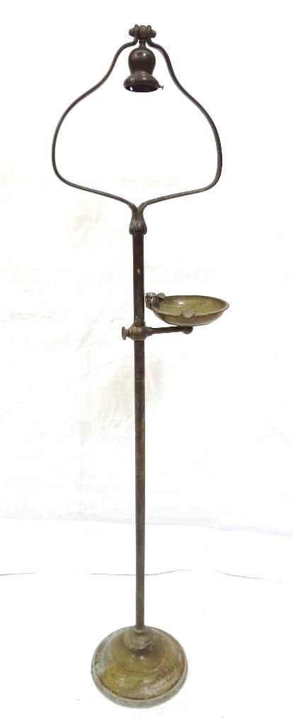 handel bronze floor lamp base with bell shaped harp. Black Bedroom Furniture Sets. Home Design Ideas