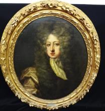 After Sir Peter Lely (Dutch 1617-1680) Oil on Canvas of English Gentleman