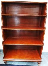 English Leather Top Step Back Open Book Shelf