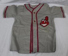 1950's Era Cleveland Indians Complete Little League Gray Flannel