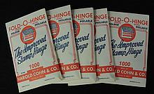 Five Packs of Harold Cohn Fold-O-Hinges