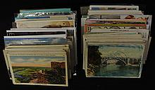U.S. and Foreign Postcard Lot 500-700 cards