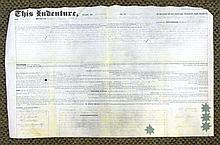 1843 Signed Indenture for Philadelphia Property