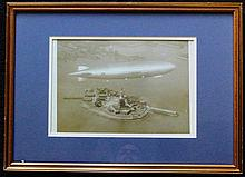 Los Angeles Naval Airship Over New York Print