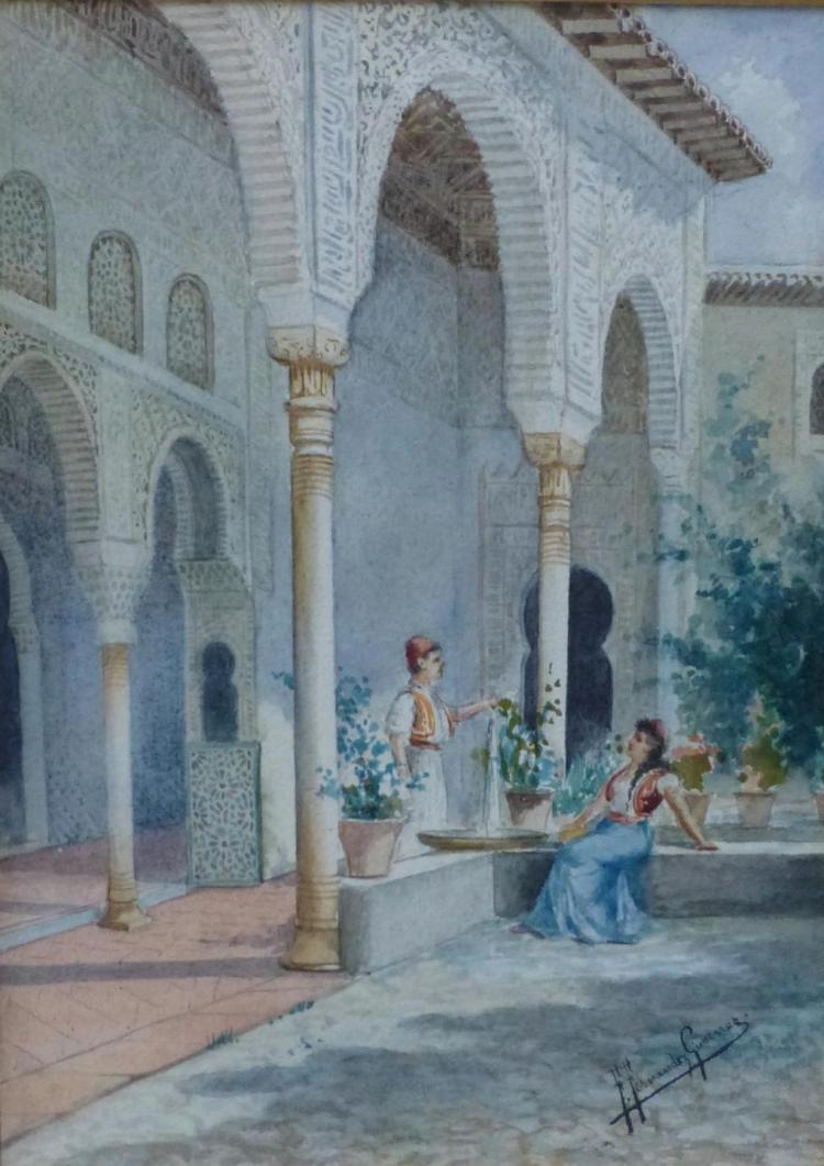 Federico Gimenez Fernandez (Spain, 1841-1873) Watercolor
