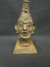 Benin Bronze Figural Head Western Africa Modern Day Nigeria