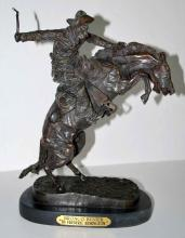After Frederic Remington Bronco Buster Bronze