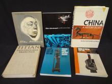 (6) Modern Art Books: Schreckengost, Kollwitz, Titian, and others