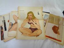 Esquire Magazine Pin-Up Girl Pull Out Pages: Al Moore, and others